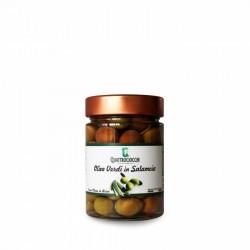 Olive verdi di Gaeta in salamoia - Quattrociocchi - 350g