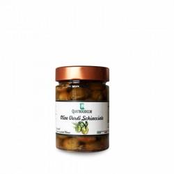 Olive verdi schiacciate condite - Quattrociocchi